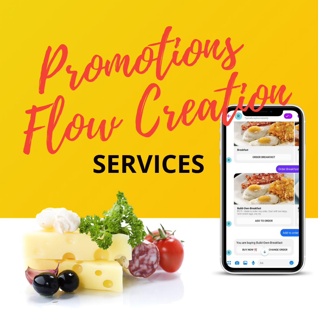 promotions flow creation services for restaurant chatbots